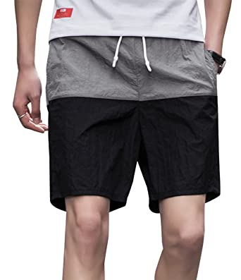 8d9c80ef45 AIEOE Men's Summer Clothes Running Shorts Quick Dry Swimming Shorts for  Beach Party Black S