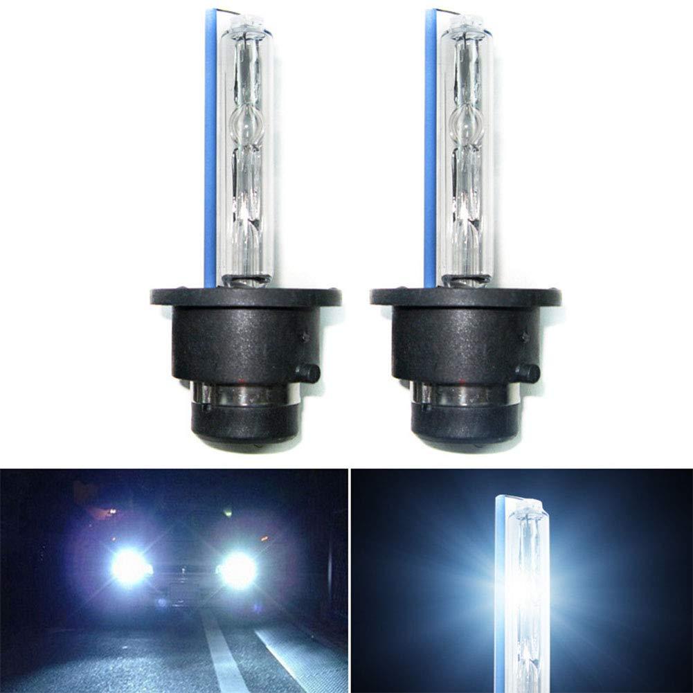 elegantstunning 2pcs/Set 35W D2S/D2C/D2R Xenon HID Foglights Bulbs 4300K-12000K Headlight, 8000K
