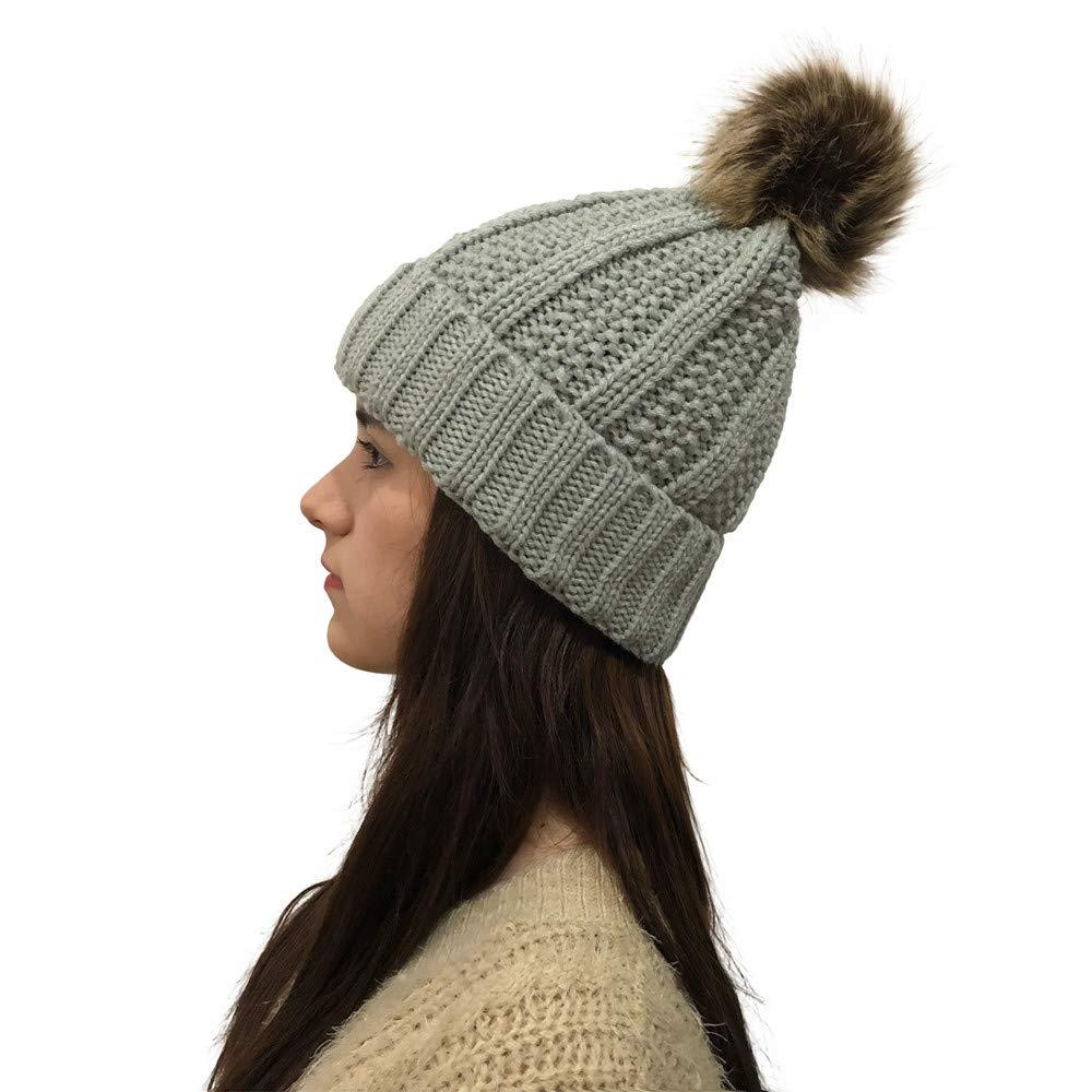 BHYDRY Sombrero de Invierno de Mujer de Moda Mantenga ...