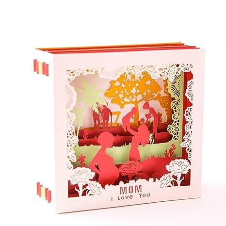 Amazon.com: Tarjetas de felicitación creativas BFRed 3D Pop ...