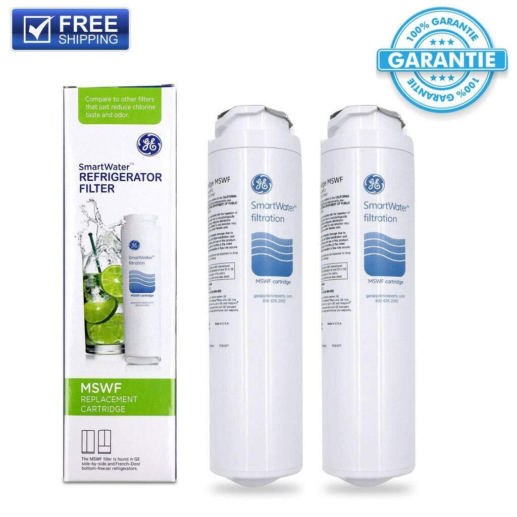 2 Pack Genuine OEM Sealed GE MSWF SmartWater Refrigerator Water Filter Cartridge