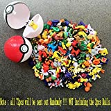 Random 72pcs/set Pikachu Pokemon Go Mini Action Figure Toy 2-3cm Pocket Monster offers