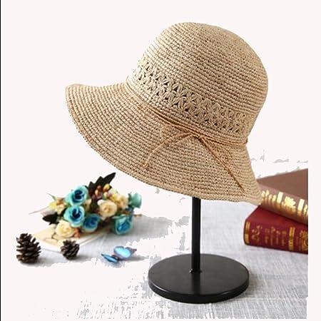5bca0c5b58cc7a Sunhat CHUNLAN Hat Female Summer Straw Hat Lady Sunscreen Korean Version  Large Beach Hat Outdoor Tourism