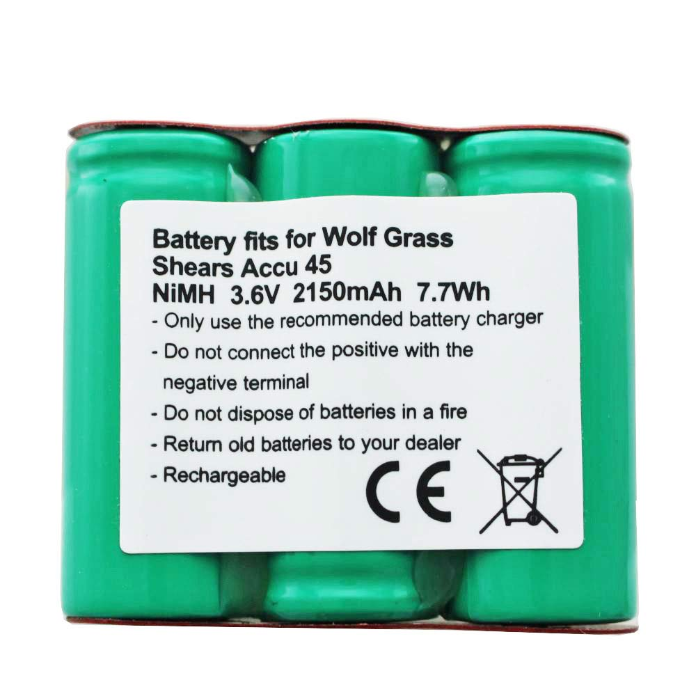 Batería para cortacésped Wolf Accu 45, 7084000 3,6 V NiMH ...