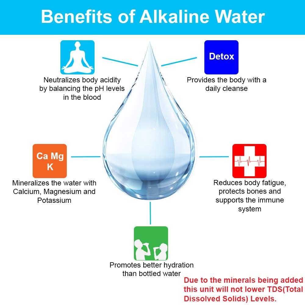 by Apex Countertop Drinking Water Filter Alkaline Black