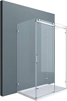 doporro Cabina de ducha en forma de U diseño Ravenna17-2, 90x150x195cm con puerta corrediza divisora y vidrio templado de seguridad transparente | Fijación de 4 puntos.: Amazon.es: Bricolaje y herramientas