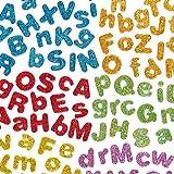 Lettere Autoadesive in Schiuma con Brillantini (confezione da 850)