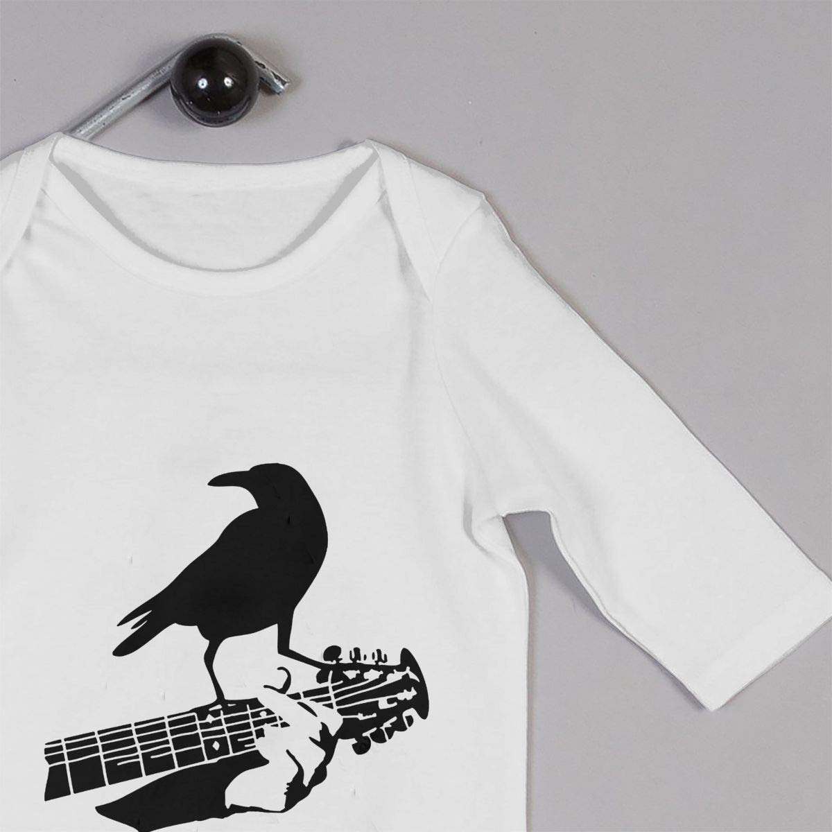 KAYERDELLE Crow Guitar Long-Sleeve Unisex Baby Playsuit for 6-24 Months Toddler