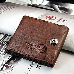 Money coming shop Luxury Clutch Designer Famous Brand Men Wallet Male Bag Money Carteras Walet Leather Card Holder Sac A Main Pochette Cuzdan (Brown)