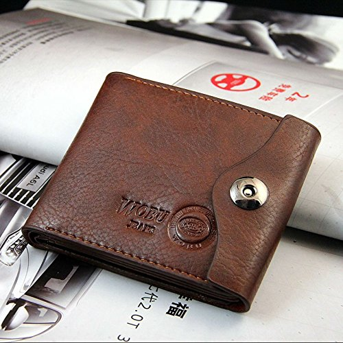 Money coming shop Luxury Clutch Designer Famous Brand Men Wallet Male Bag Money Carteras Walet Leather Card Holder Sac A Main Pochette Cuzdan (Brown)