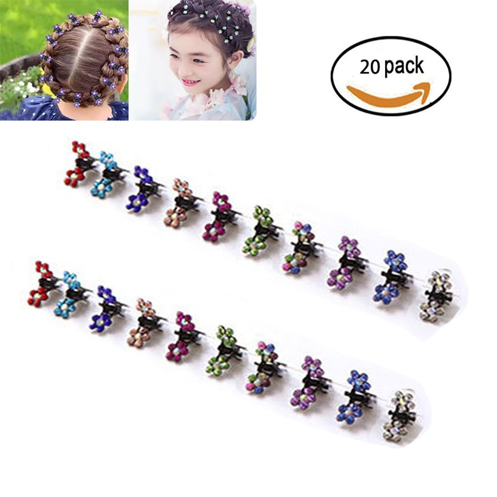 YiKiMira 20 pcs Hair Pins Hair Bangs Mini Small Hair Claw Clip Hair Pin Flower Accessories for Women Girls Little Girl (20 pcs)