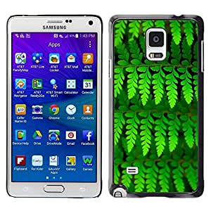 FECELL CITY // Duro Aluminio Pegatina PC Caso decorativo Funda Carcasa de Protección para Samsung Galaxy Note 4 SM-N910 // Leaves Green Vibrant Summer Nature