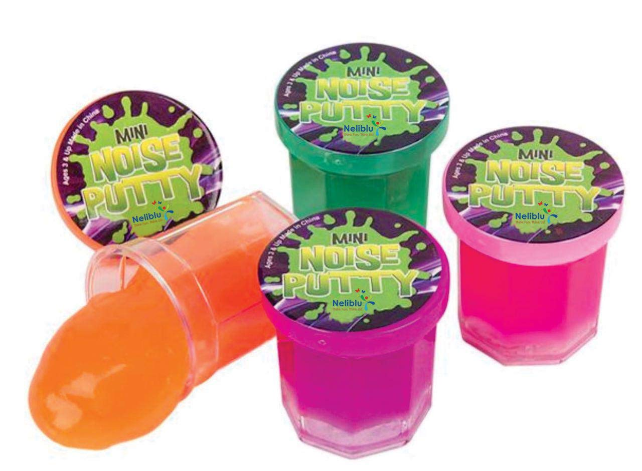 Mega Party Favor Pack of Slime - Party Favors for Kids and Teens - Bulk Pack of 48 Mini Noise Putty in Assorted Neon Colors - Bulk Toys, Easter Egg Stuffers, and Birthday Party Favors for Kids by Neliblu (Image #2)
