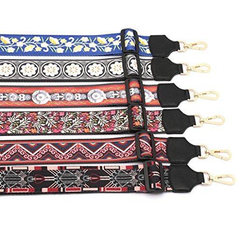 Purse Color Strap Guitar 28cm Handbags Crossbody for Replacement Strap Canvas 05 85cm Multicolor Style ww17q