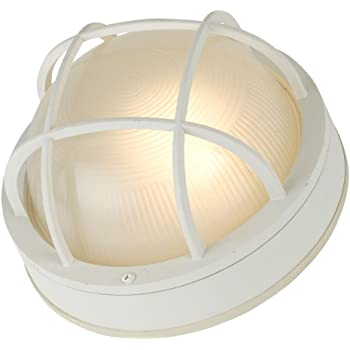 Marine Bulkhead Wall/Ceiling Light with Ribbed Glass in