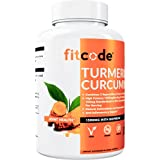fitcode Turmeric Curcumin with 95% Curcuminoids, Highest Potency, Non-GMO, Gluten Free, 1500mg of Ultra-Pure Turmeric…
