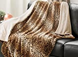 Leopard Throw Blanket Faux Fur Bed Blanket 60