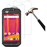[Pack of 2] CAT S60 Screen Protector, Gzerma Ultra-Thin Shatterproof Bubble Free Easy to Install Protective Film with 2.5d Rounded Edges for Caterpillar CAT S60 Smartphone