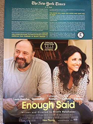 ENOUGH SAID (2013) Source Authentic Movie Poster 27x40 - Double - Sided - Julia Louis-Dreyfus - Catherine Keener - James Gandolfini - Toni Collette