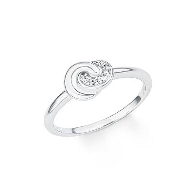 bc065d0f95ff s.Oliver Damen-Ring So Pure Knoten 925 Sterling Silber rhodiniert Zirkonia  weiß  Amazon.de  Schmuck