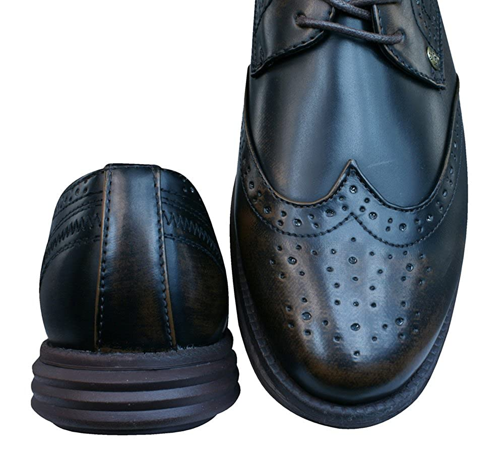 Firetrap Bud Ata para arriba Brogues / zapatos de los hombres-Tan-42 nDJgLtWUY