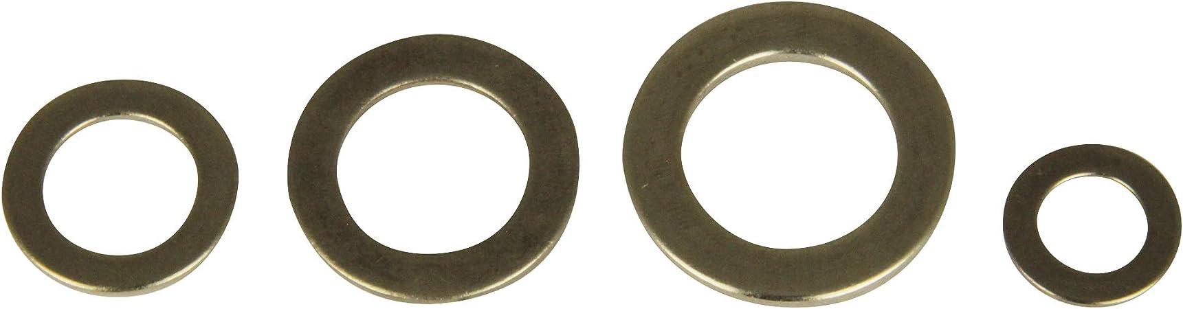 Lot de 10 rondelles en acier inoxydable A2 V2A