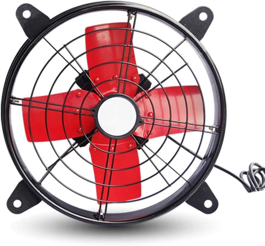 LJJL Ventilador electrico Ventilador eléctrico, Industrial de Alta Potencia, Extractor de Aire, Extractor, Cocina, fábrica, Gran Volumen de Aire, Humo, Extractor, Ventilador - Naranja/Rojo Ventilado