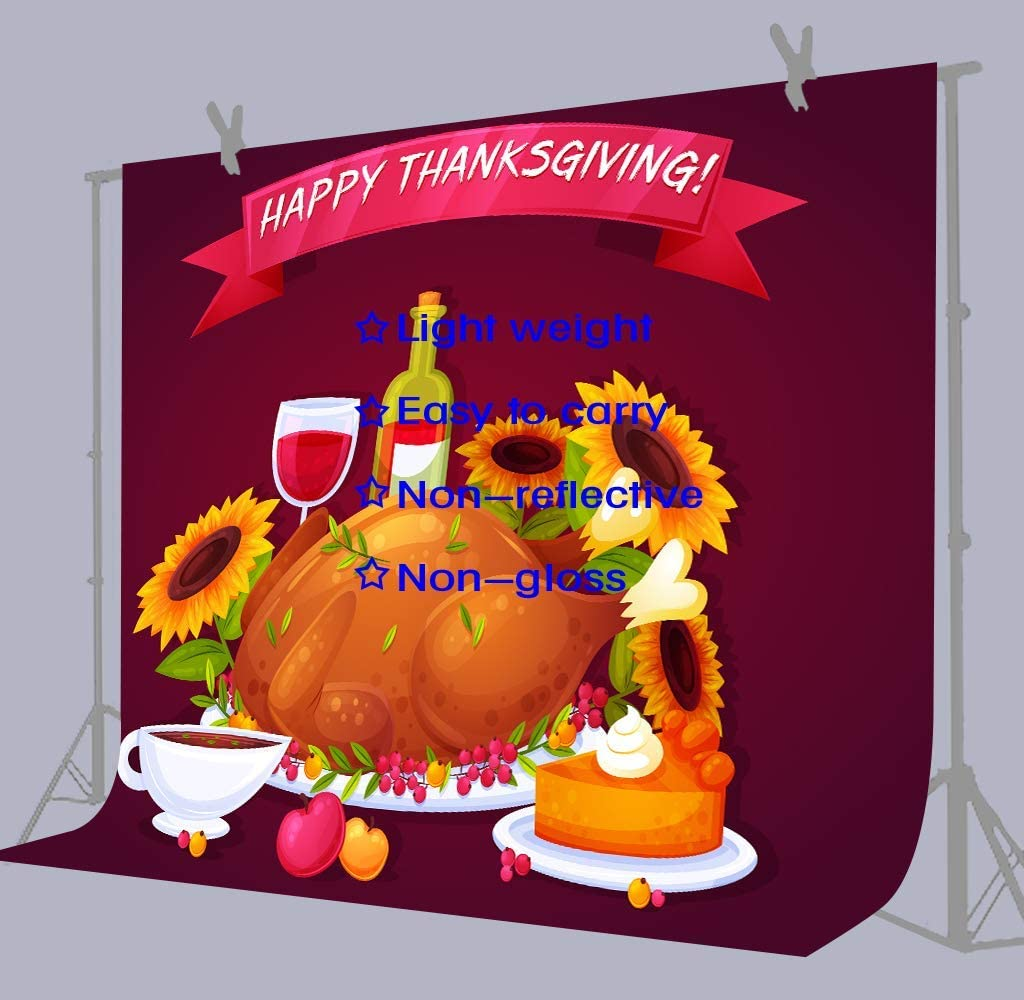 10x8ft Background Thanksgiving Day Photography Backdrop Photo Booth Props DSFU060