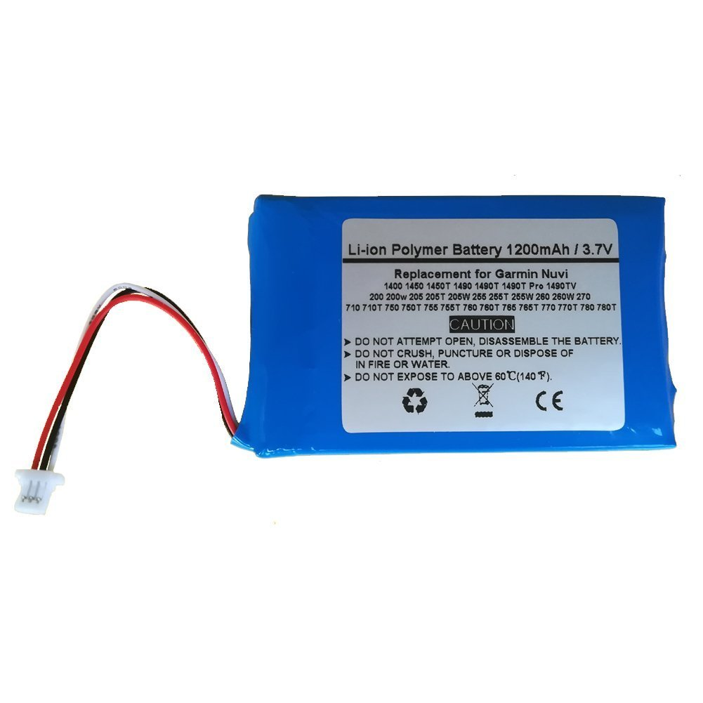 Replacement GPS Navigator Battery for Garmin Nuvi 1400 1450 1450T 1490 1490T, 1490T Pro, 1490TV Starnovo