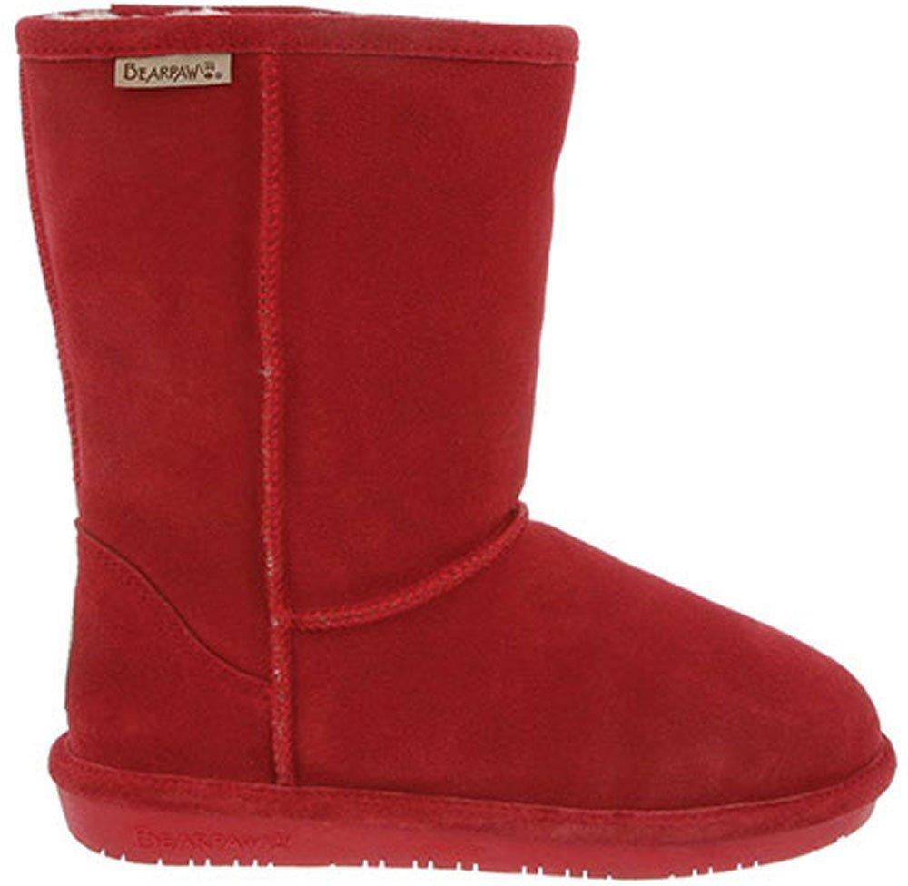 BEARPAW Womens Emma Short Boot Cranberry Size 5