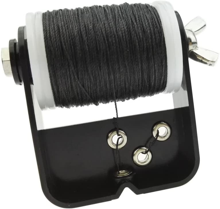 JVSISM Professional Bow String Serving Thread 110M//Roll Thickness For Various Bow String Archery Black+White