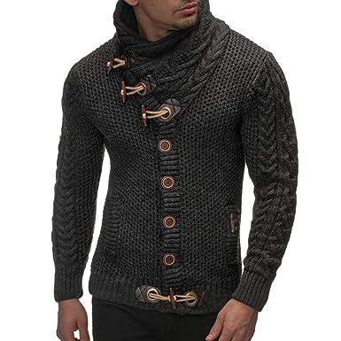 new product 9b546 59fd1 Elecenty Cappotto maglione cardigan casual uomo autunno ...