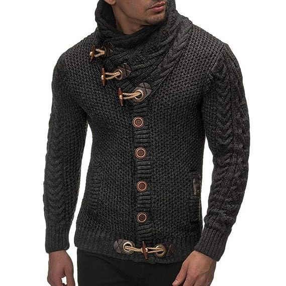 JiaMeng Chaqueta de Punto Informal suéter Abrigo Tejido suéter Abrigos Cardigans Cremalleras de Bolsillo Chaquetas Hombre Moto Deportivas: Amazon.es: Ropa y ...