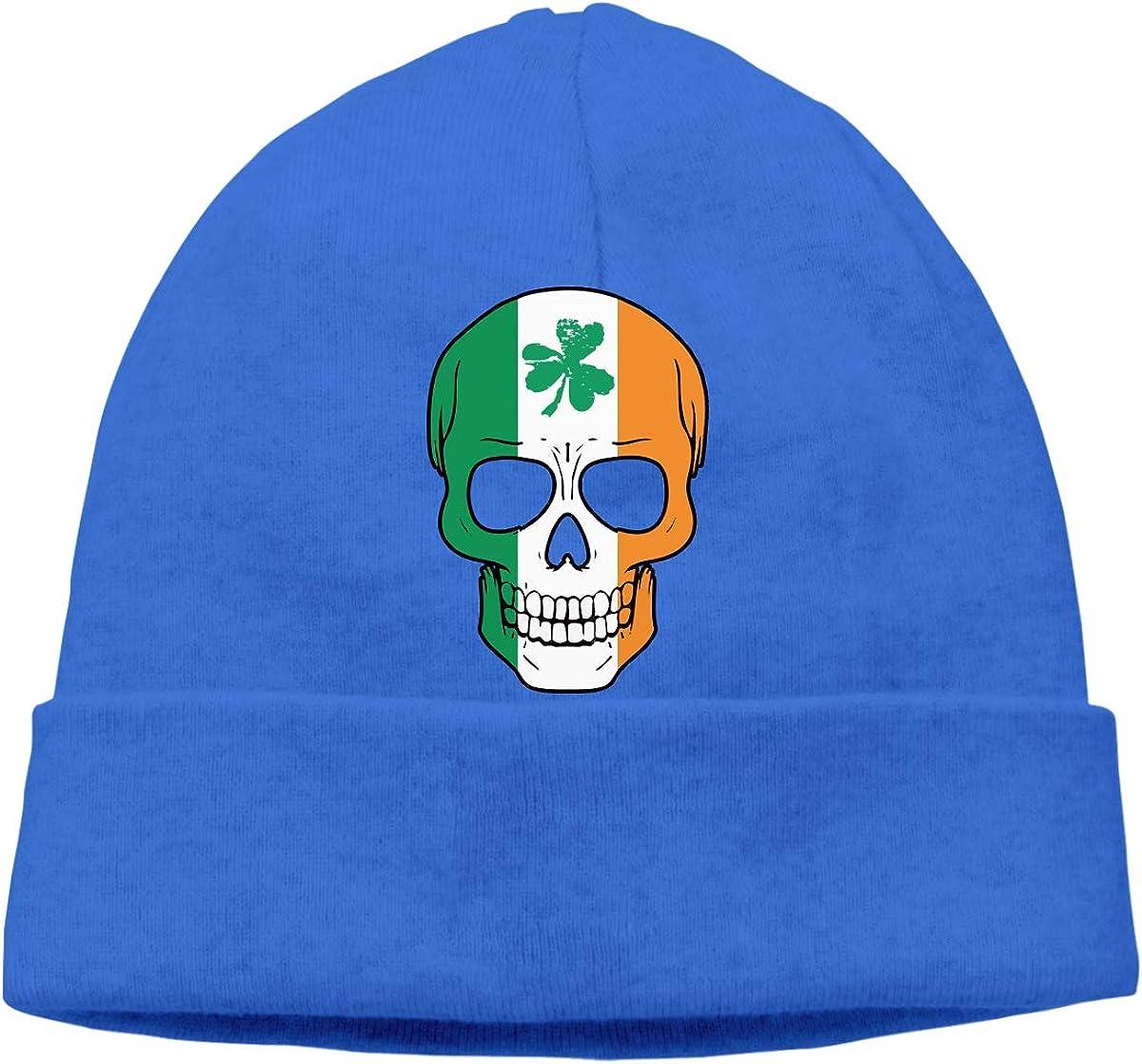Patricks Day Soft Knit Caps BBlooobow Mens/&Womens Irish Skull St