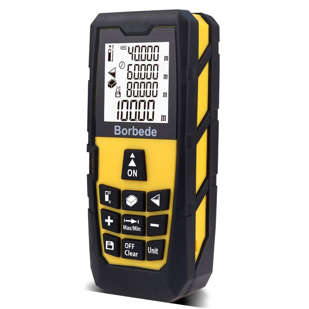Laser Distance Measure Meter Portable Rangefinder Area/Volume/Pythagorean 131ft (40m)/196ft(60m)/262ft(80m)/328ft(100m) Digital Tape Measure IP54 (131ft (40m))