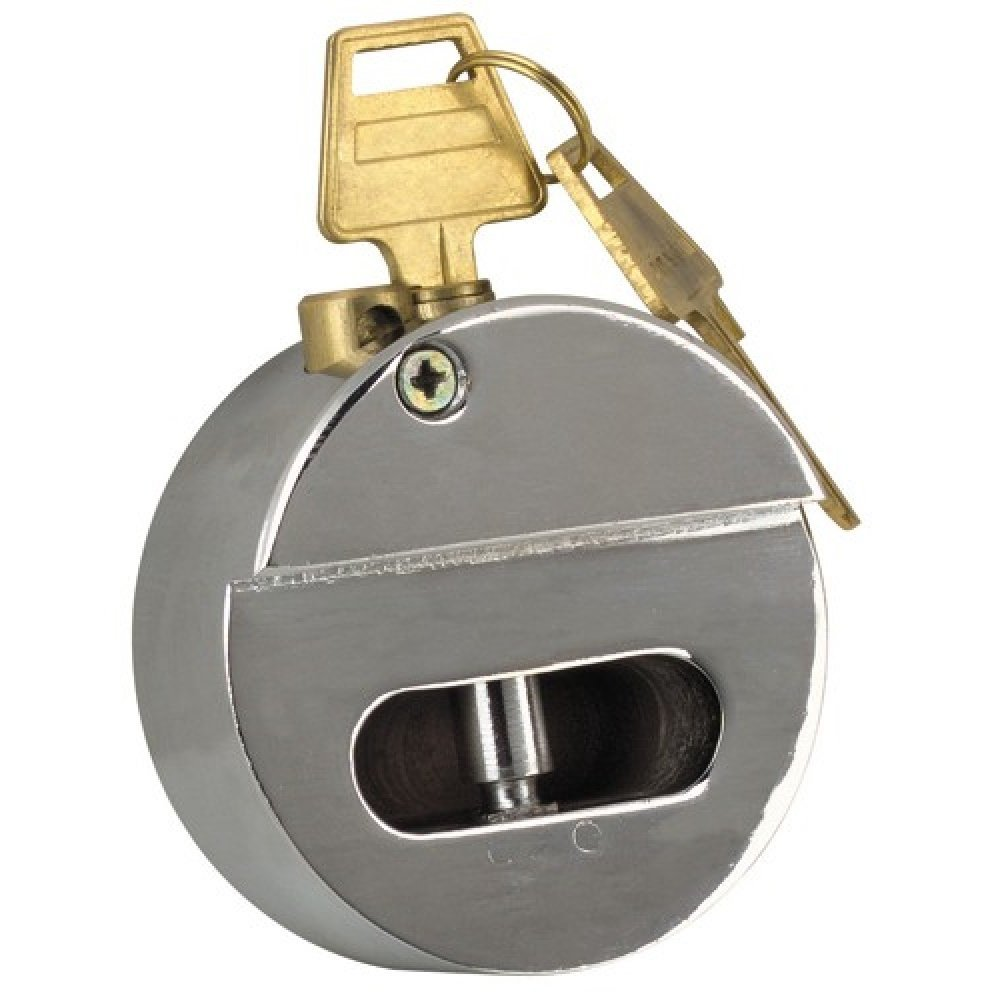 Keyed Highly Secured 3 in. Not Exposed Shackle-Less Padlock Lock is Ideal for trucks vans gates vending machine and more