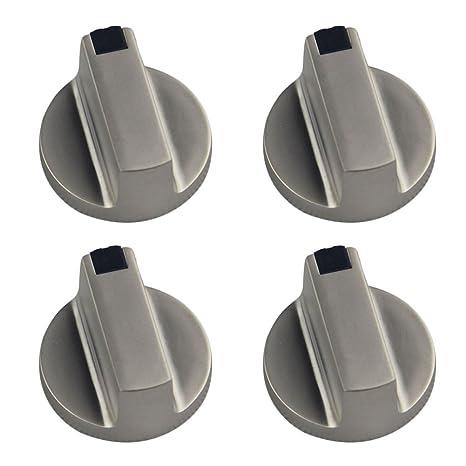 Chytaii 4pcs Estufas de Gas Pomo de Interruptor Mandos de interruptores Botón Utensilio de Cocina Metal