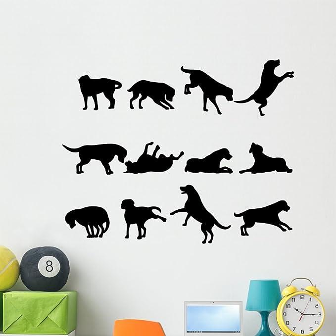 Latitude Run Dog Silhouette Peel And Stick Graphic Wall Decal Wayfair