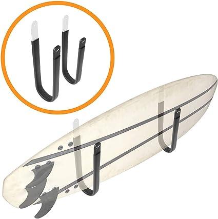 3 Board Surfboard Wood Wall Rack Display for Longboard Mounted Home Display