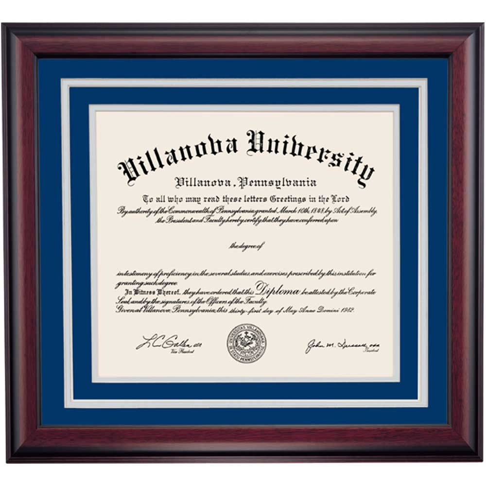 Amazon.com - Villanova Wildcats Diploma Frame Blue Gray Matting -