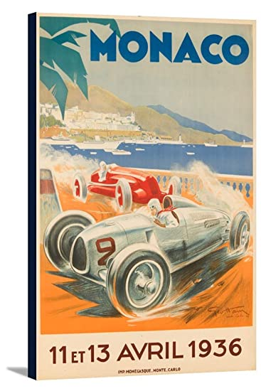 Amazon.com: Grand Prix de Mónaco 193 Vintage Cartel (Artista ...