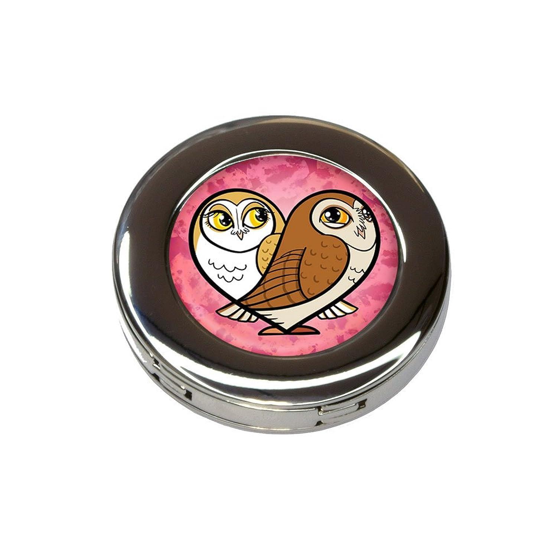 Heart Owls Foldable Retractable Purse Bag Handbag Hook Hanger Holder