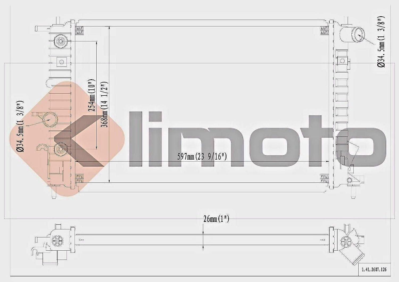 Brand New Aluminum Radiator for Saturn L300 LW300 LS2 LW2 3.0L V6 Fits 2607