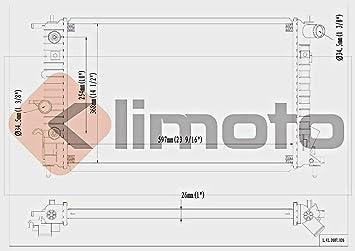 Amazon.com: klimoto marca Radiador para Saturn L100 L200 ...