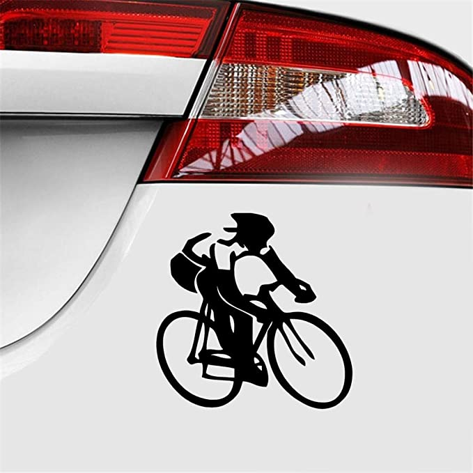 pegatina coche 15 * 15 cm bicicleta ciclista calcomanía motocicleta SUV parachoques ventana del coche portátil estilo del coche para el coche portátil ...