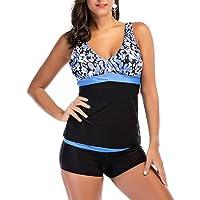 Huicai Ladies Swimwear plus Size Mujeres traje de baño Dos piezas Sets Beachwear Print V-Neck Swimsuit