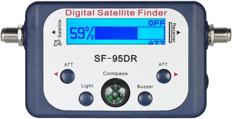 KKmoon Buscador de satélite digital Medidor de señal de satélite Medidor de señal de satélite digital Mini con pantalla LCD Satélite digital con ...