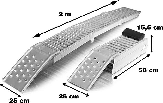 Grafner 2er Set Klappbare Auffahrrampe Stahl 1600 Kg 200cm X 25cm Auffahrschienen Motorradrampe Anhängerrampe Auffahrbock Rampe Verladerampe Faltbar Baumarkt