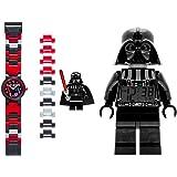 Lego 9002113-S Set Reloj de Pulso y Reloj Despertador Darth Vader, color Negro