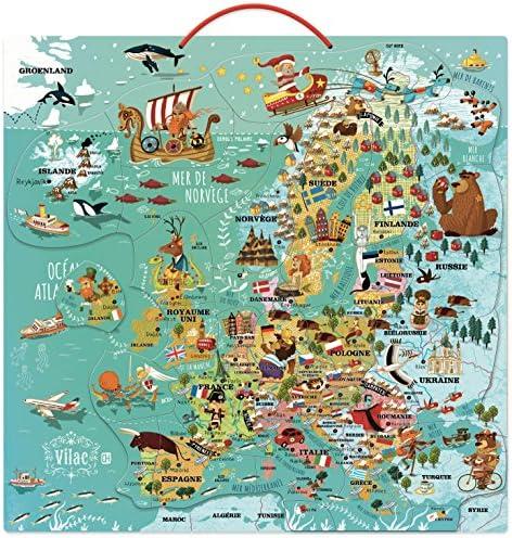 Vilac 2727 - Mapa de Europa magnética de Madera: Amazon.es: Juguetes y juegos